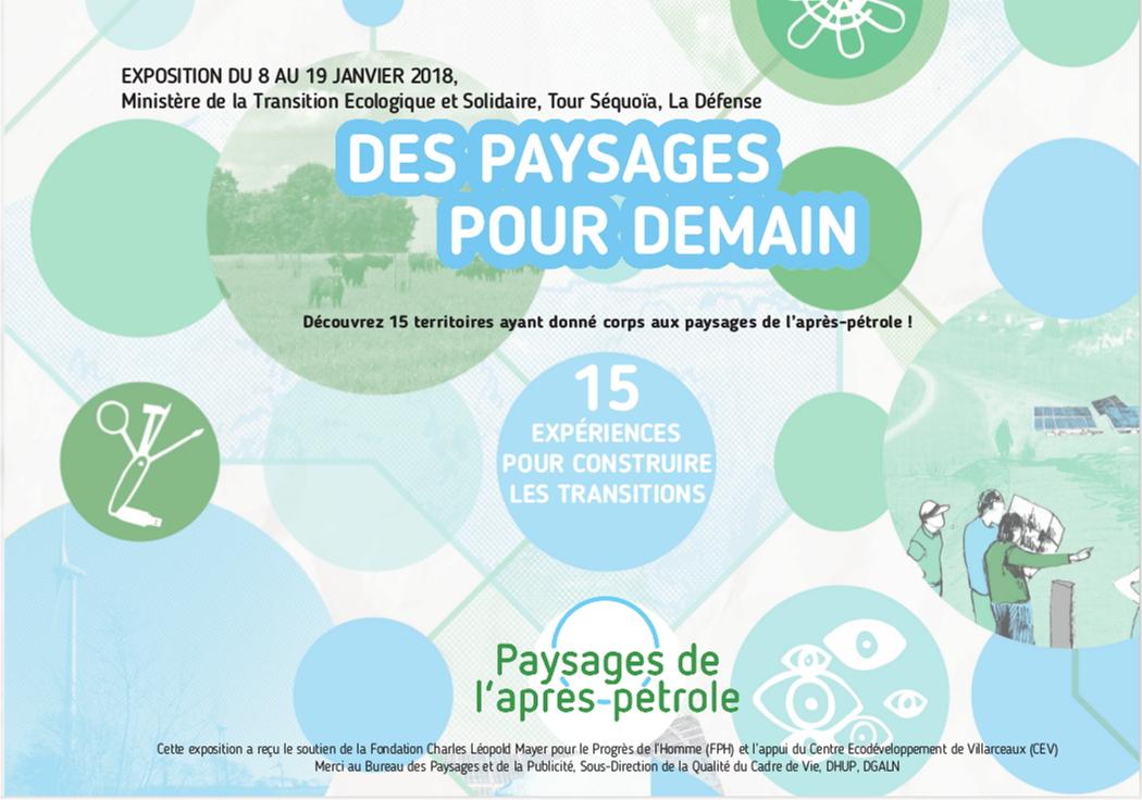 Flyer MTES expo Des Paysages pour demain